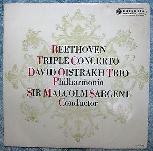 Beethoven Triple Concerto DAVID OISTRAKH TRIO Philharmonia - SARGENT- 1958 Aust.