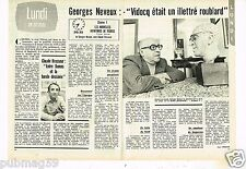 Coupure de presse Clipping 1973 (2 pages) Georges Neveux