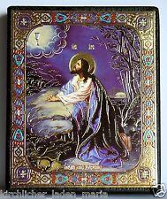 Ikone Gebet über den Kelch Holz икона Моление Иисуса о чаше освящена 18x15x2 cm
