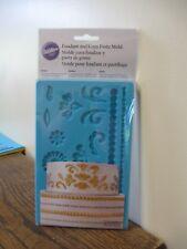 New! Wilton Fondant & Gum Paste Cake Decorating Mold- Floral Designs