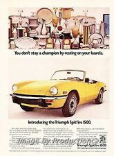 1973 Triumph Spitfire -  Original Advertisement Print Art Car Ad J767
