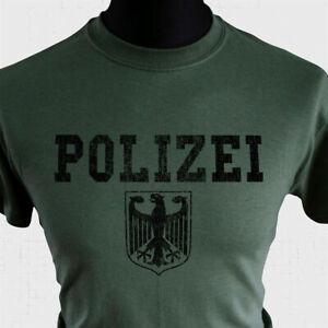 POLIZEI T Shirt Police Eagle German Retro Green Vintage