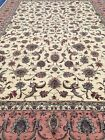 Exquisite High Quality Floral Oriental Handmade Pakistani Rug Ivory & Pink 11x16