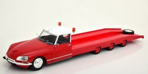SUPERB CMR 1/18 DIECAST 1970 CITROEN DS TISSIER CAR TRANSPORTER IN RED CMR139