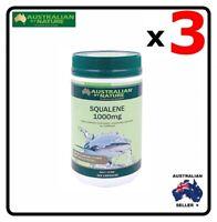 3 x Australian by Nature Squalene 1000 mg 200 Capsules