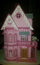 Assembled  Villa Wooden dollhouse from kit scale 1:24 ,all furnitures included