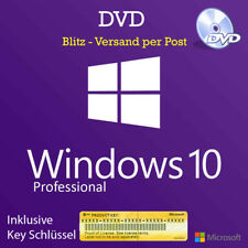 Microsoft Windows 10 Professional 64 Bit DVD und Lizenz Key - Deutsch