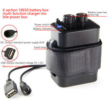 Waterproof Battery Pack Case For Bicycle Bike Lamp Battery Holder 8.4V 6x 18650