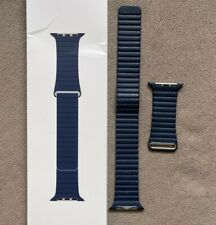 Apple Watch Band Leather Loop Diver Navy Blue 44mm L 100% AUTHENTIC OEM
