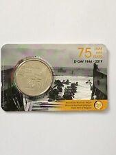 Belgium 5 euro 2019 D-Day WW2 BU Coincard