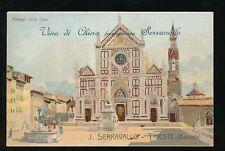 Italy FIRENZE Serravall's Tonic Advert English promotional  c1900/10s? PPC