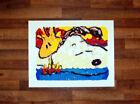 "Snoopy Woodstock Boogie Board Canvas Print 24"" x 32"" Tom Everhart"