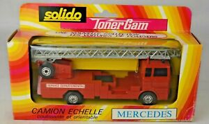 """Solido France #361 Mercedes Ladder Fire Truck 6 1/2"""" Long Mint With Box"""