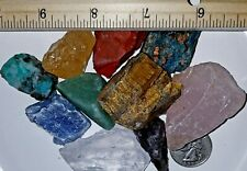 1100+Carats Mix Gem Mineral Rough Raw Crystal Craft Collection 8-15 Pieces