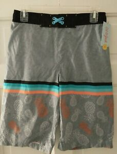 Boys Cat And Jack Swimming Shorts Swim Trunks New Size Youth XL 16 Swimsuit Gray