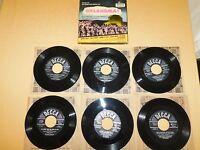 VINTAGE 1949 DECCA OKLAHOMA 6  45 RPM RECORD SET in BOX