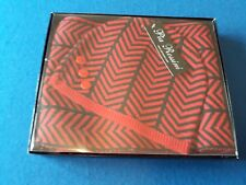 Pia Rossini Ladies Scarf And Beanie Hat Set Red and Black  New Boxed