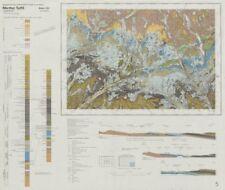 Merthyr Tydfil. Geological survey map. Sheet 231. Wales Brecon Beacons 1979