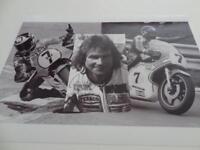 MOTORSPORT LEGEND & WORLD CHAMPION 1976 1977 SUZUKI BARRY SHEENE A4 PRINT