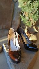 size 8 jessica simpson brown leather pumps