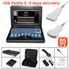 CE Portable Ultrasound Scanner Laptop Machine +3.5 Convex Probe+7.5 Linear Probe