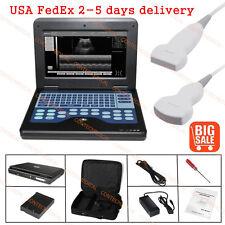 Portable Ultrasound Scanner+3.5 Convex Probe+7.5 Linear Probe,Laptop Machine,USA