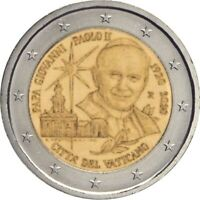 2 euro Vatikan 2020 : 100. Jahrestag der Geburt von Papst Johannes Paul II. UNC