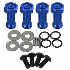 4xRC1:18 Dark Blue A580043 Alloy 12mm Wheel Hex Extension Adapter for WL