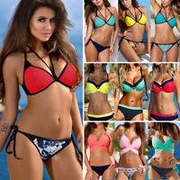 ❤Women Push Up Bikini Set Bra Padded Swimwear Bandage Lady Swimsuit Bathing Suit