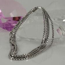 Markenlose Echte Edelmetall-Halsketten & -Anhänger ohne Steine aus Weißgold für Unisex