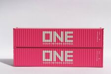 N Scale JTC ONE Pink shipping container 40' 2 pack