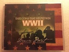 Rare coins that helped win WWII collection in deluxe mini portfolio.