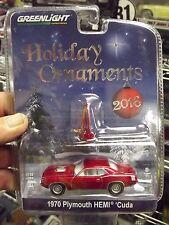 Greenlight 1/64 Holiday Ornaments 1970 Plymouth hemi cuda red NIB