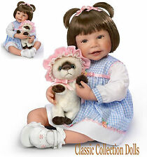 "Ashton Drake ""EMMA & BABY BOOTS"" LIFELIKE 22"" BABY GIRL DOLL-NEW-IN STOCK NOW !"