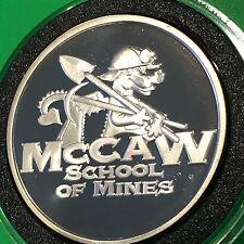 SCARCE McCaw School o Mines Sunshine PROOF Coin 1 Troy Oz .999 Fine Silver Round