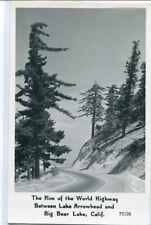 Rim of World Highway Lake Arrowhead Big Bear California RPPC Frasher postcard