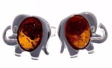 Orecchini di lusso con gemme Naturale Marrone ambra