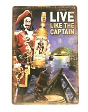 New listing Captain Morgan Spiced Rum Tin Poster Sign Rustic Style Bar Restaurant Man Cave 4