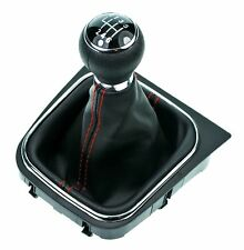 Schaltsack Schaltmanschette GTI look ROT Schaltknauf VW Jetta Golf 5 6 Scirocco