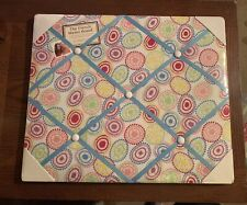 """NewView Colorful Circles W Blue Ribbon French Memo Board 18.5"""" X 15.5"""" New"""