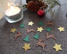 Streudeko Weihnachten Sterne gold Tannenbaum Rentiere Tischdeko Weihnachtsdeko