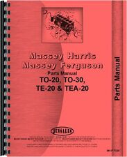 Ferguson Tractor Parts Manual TO-20 TO-30 TE-20 TEA-20 MH-P-TO20