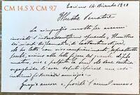 Ceragioli Giorgio pittore scultore biglietto autografo Torino 1928