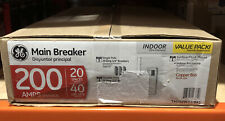 Ge 200 Amp 20 Space 40 Circuit Indoor Load Center Main Breaker Box Panel Kit