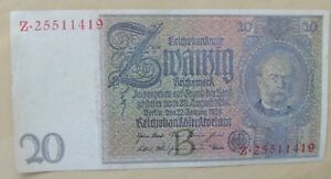 Germany banknote 20 mark dated 1929