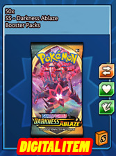 50x Darkness Ablaze Codes Booster Packs Pokemon TCG Online (PTCGO, Ingame)