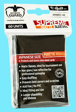60 ULTIMATE GUARD SUPREME MATTE BLACK JAPANESE Card SLEEVES Small Size Yugioh