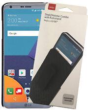 Verizon Original Black Kickstand Case Cover Belt Clip Holster for LG G6, G6 Plus