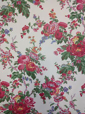 Vintage Wallpaper Floral Botanical Victorian Pink, Yellow, Violet by Motif
