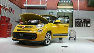 1:24 Maßstab Gelb 2013 Fiat 500L Multipla 24038 Detaillierte Welly Modelle Auto